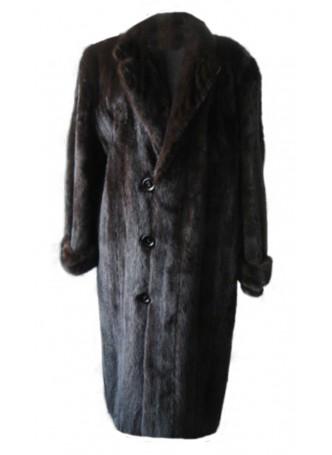 Mink Fur Coat Natural Dark Ranch Size 46 XL