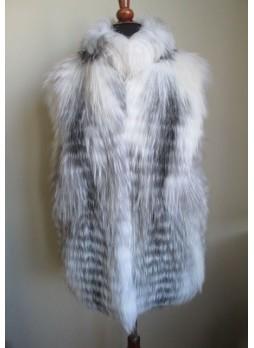 Silver & Shadow Fox Fur Vest  Women's