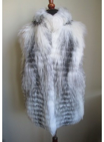 Silver & Shadow Fox Fur Vest  Women's