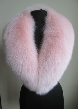 Fox Fur Collar Pink Women's
