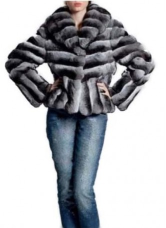 Chinchilla Fur Coat Jacket Women's