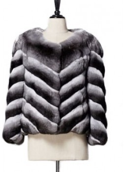 Chinchilla Fur Jacket Coat Women's