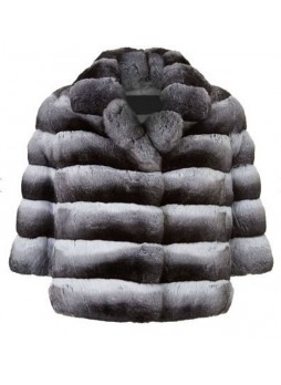 Chinchilla Fur Jacket Coat Bolero Women's