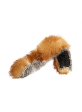 Fox Fur Natural Red Hood Trim For Coat and Jackets DETACHABLE