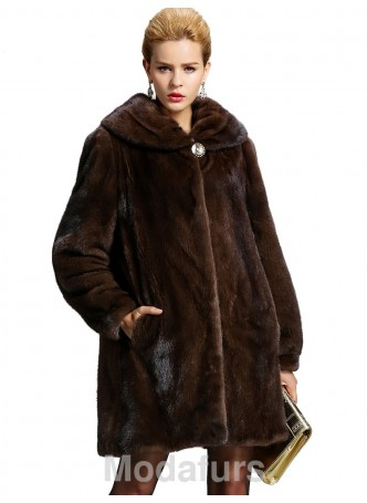 Mink Sheared Fur Coat Jacket Stroller Women's
