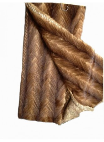Mink Fur Plate Throw Blanket Bedspread Rug Natural Brown Home Decor