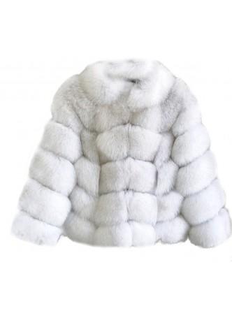 Fox Fur Jacket Coat Bolero Norwegian Blue Women's
