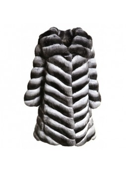 Chinchilla Fur Coat Jacket Women's