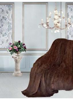 "Knitted Mink 100% Fur Natural Pastel Throw Blanket Bedspread Rug  80"" X 60"" Home Decor"