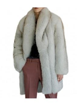 Fox Fur Coat Jacket Norwegian Blue  XL for Man L Men's
