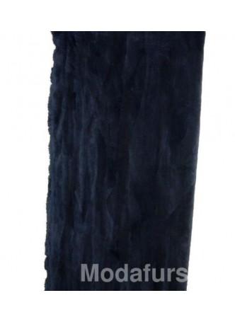 Beaver Sheared Fur Black Onyx Plate Throw Blanket Bedspread Rug Home Decor