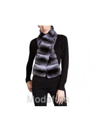 Chinchilla Fur Collar Scarf Women's