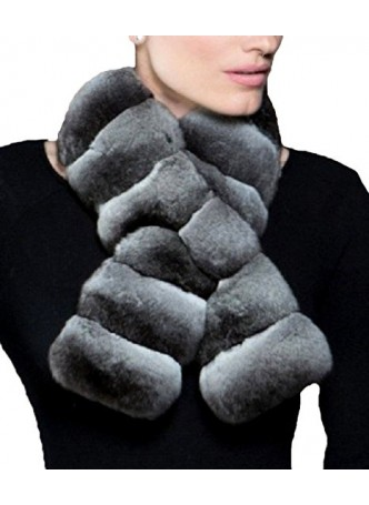 Chinchilla Fur Collar Scarf Women's