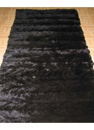 Mink Fur Plate Throw Blanket Bedspread Rug Natural Dark Ranch Home Decor