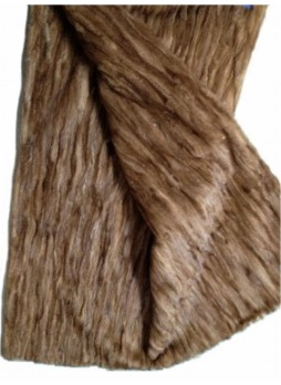 Mink Fur Plate Throw Blanket Bedspread Rug Natural Pastel Home Decor