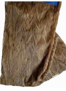 Mink Fur Plate Throw Blanket Bedspread Rug Natural Brown Demi-Buff Home Decor