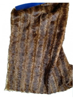 Mink Fur Plate Throw Blanket Bedspread Rug Natural Mahogany Home Decor