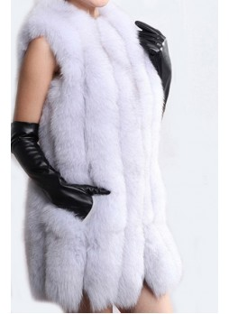 Norwegian Blue Fox Fur Vest Women's