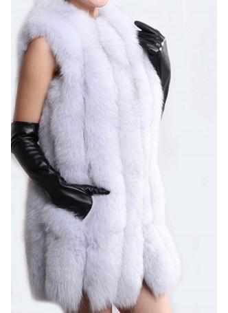 Norwegian Blue Fox Fur Vest Women's