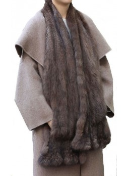 Knitted Russian Sable Fur Shawl Cape Stole Wrap  Women's